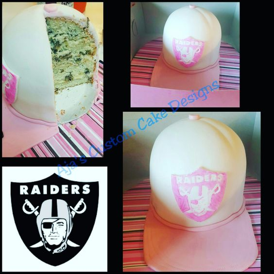 Pink Raiders Cap. Perfect for football fans