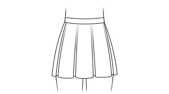 Vẽ Một Chiếc Váy Anime Bay Trong Gió Tuyệt Đẹp