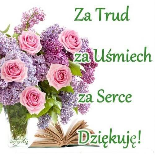 Kartka Pod Tytulem Z Okazji Dnia Nauczyciela Floral Wreath Floral Emoji