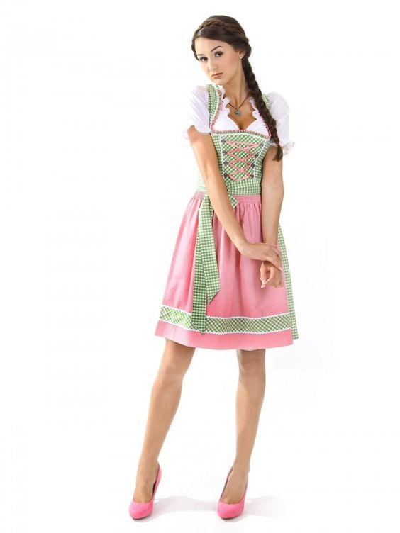 Mini Dirndl Lucie grün-pink (exclusive) | * DIRNDL ...