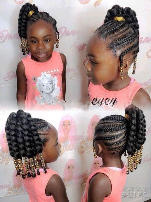 Black Kids Hairstyles with Beads | Cute little girl ...