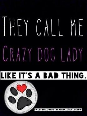 they call me crazy dog lady..: