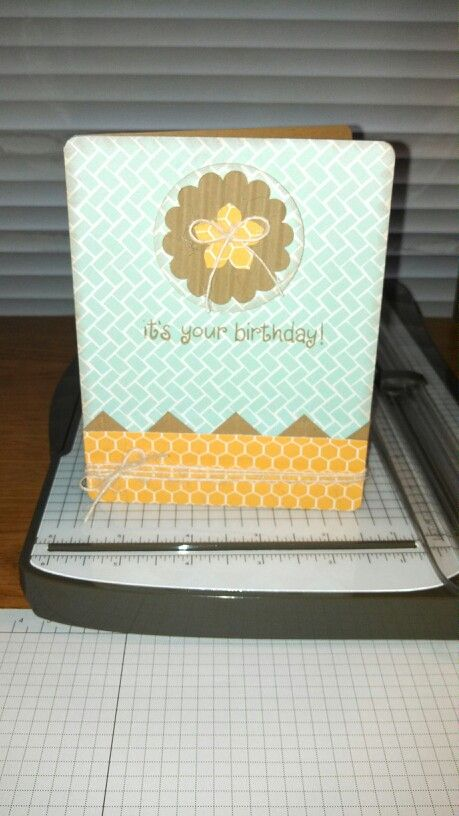 A birthday card I made using Lawn Fawn paper!