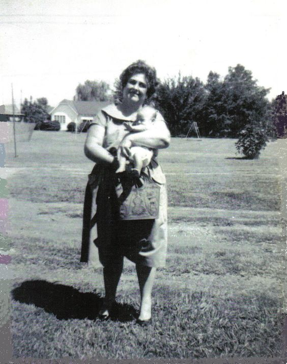 My first picture of Evelyn and I, 1961
