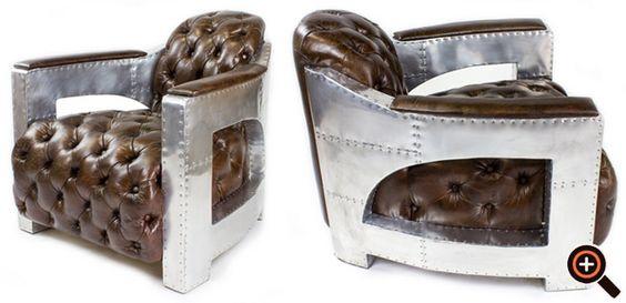 Lounge Sessel aus Leder - Clubsessel, Chesterfield, Retro Designersessel