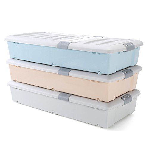 Long Plastic Bed Bottom Storage Box, Extra Long Plastic Storage Boxes