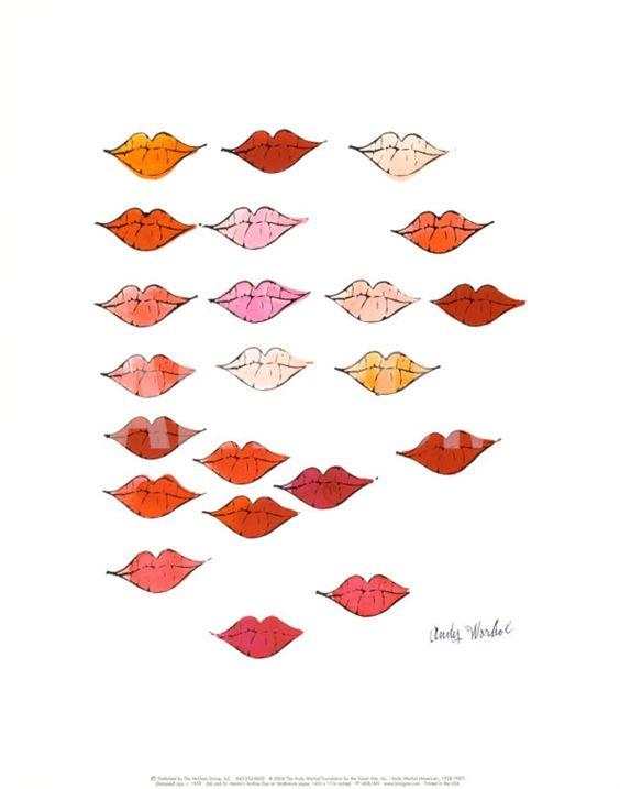 Lips Print by Andy Warhol