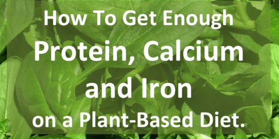 How To Get Enough Protein Calcium and Iron on a Plant-Based Diet