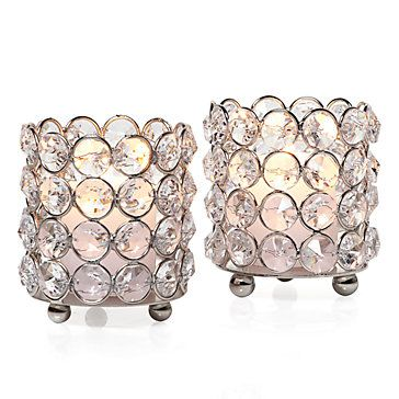 I love crystal anything!  And I definitely love candleholders!