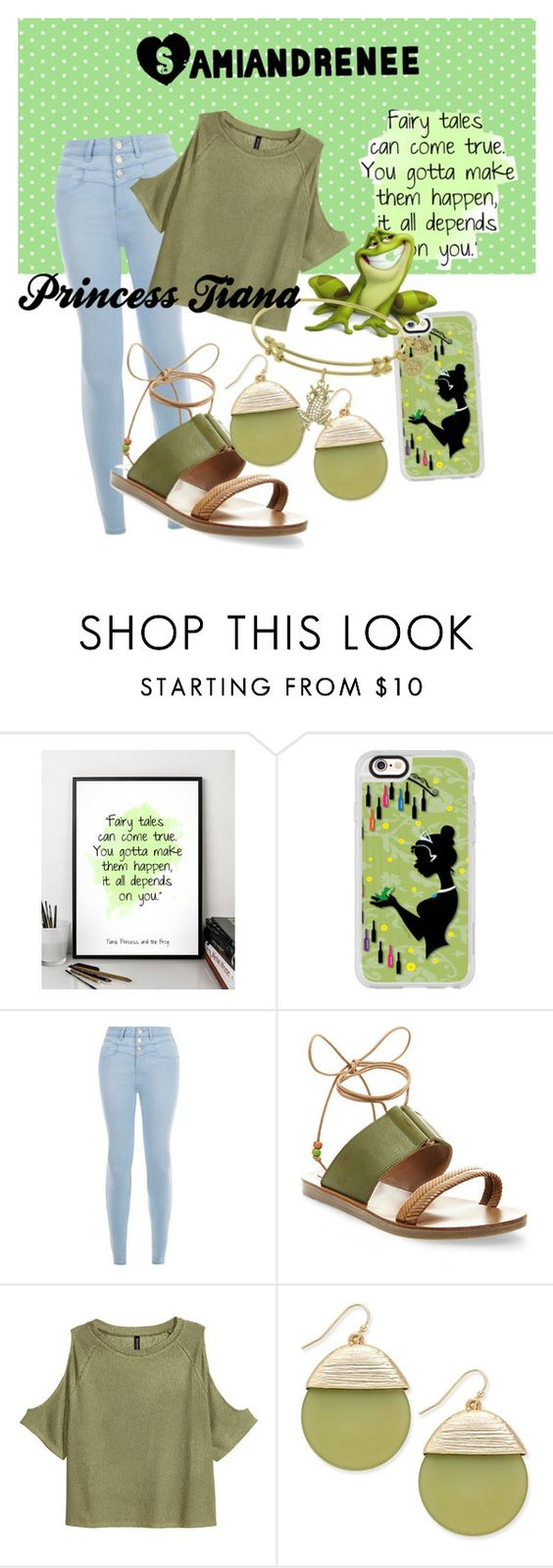 """Disney Princess Tiana Inspiration"" by samiandrenee on Polyvore featuring Disney, Casetify, New Look, Steve Madden and INC International Concepts"