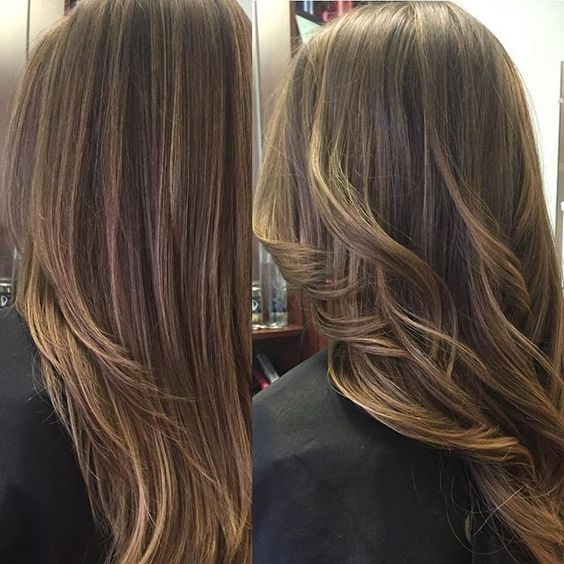 Straight or wavy? Or both!? Balayage retouch and enhancement on this gorgeous…