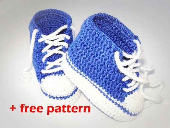 Crochet patterns (PDF) - Baby Boy Booties - Pattern number ...