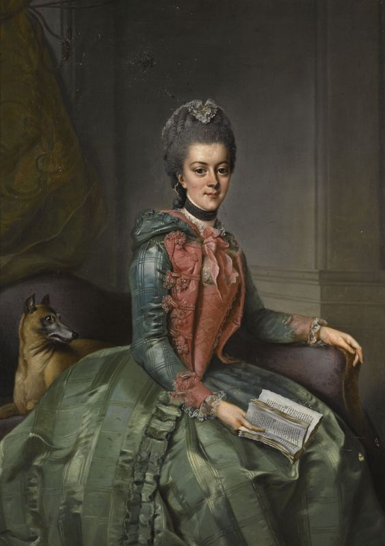 Картинки по запросу Princess Frederika Sophia Wilhelmina of Orange by Johann Georg Ziesenis