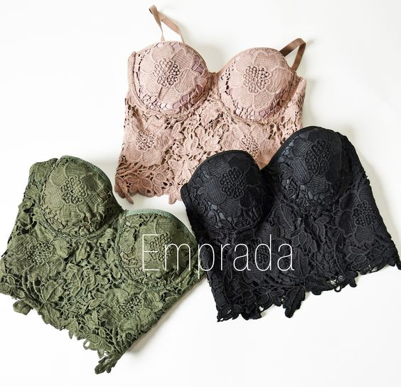 95% Polyester, 5% Spandex Adjustable and removable straps Available in 3 colours: Black, Nude & Olive