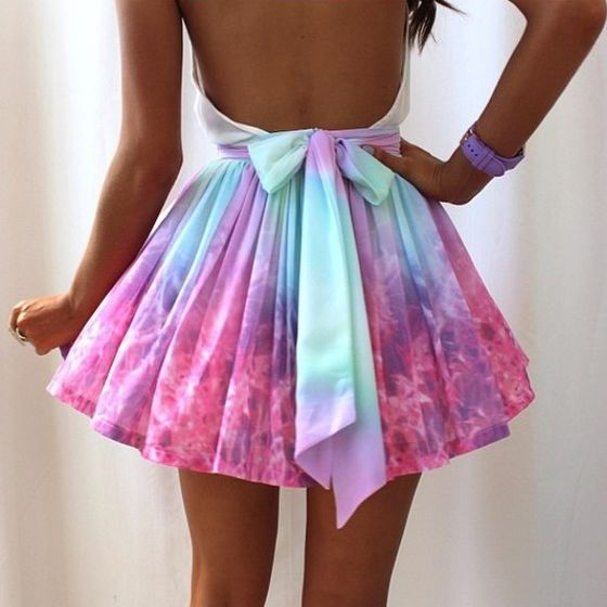 *free ship* harajuku pastel galaxy skirt with back Absolutely stunning kawaii cute