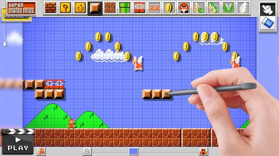 'Mario Maker', A Video Game Featuring the Ability to Create, Design, and Play 2D 'Mario' Levels