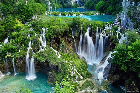 the amazing Plitvice Lakes in Croatia, one of the most beautiful places I've visited