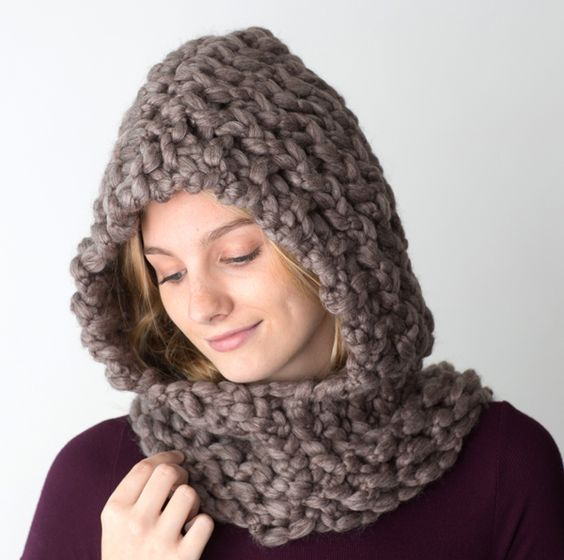 Free Loom Knit Hooded Cowl Pattern: Cowl patterns knitting and knit ...