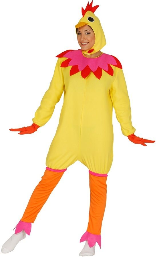 Chicken Fancy Dress Costume Outfit Adult Farm Animal Easter