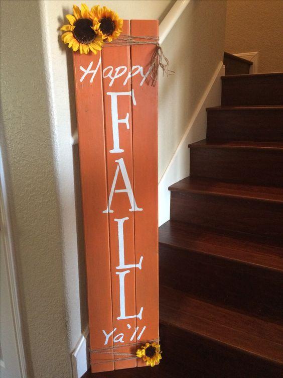 "Easy DIY "" pallet"" fall sign"
