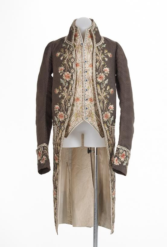 1775 French Coat and waistcoat at the National Gallery of Victoria, Melbourne - It's been a while since I've pinned one of these super-fancy late-18th century men's ensembles, so here you go!