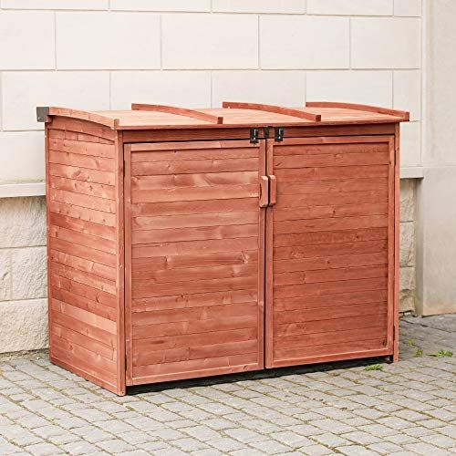 10 Outdoor Garbage Can Storage Ideas 2020 A Nest With A Yard In 2020 Garbage Shed Shed Storage Horizontal Outdoor Storage