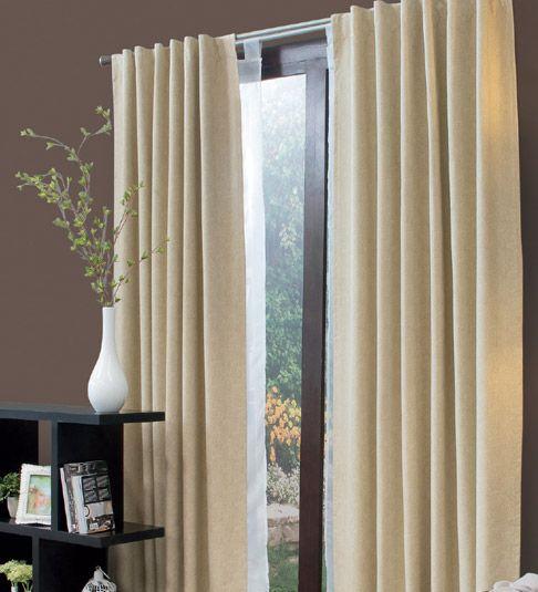 juego de cortinas beige