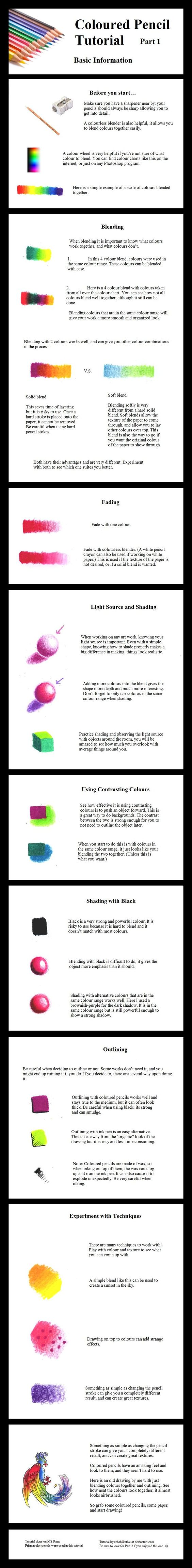 A good video tutorial for different colored pencil techniques. Colored Pencil Techniques color_pencil_techniques_sheet_2012
