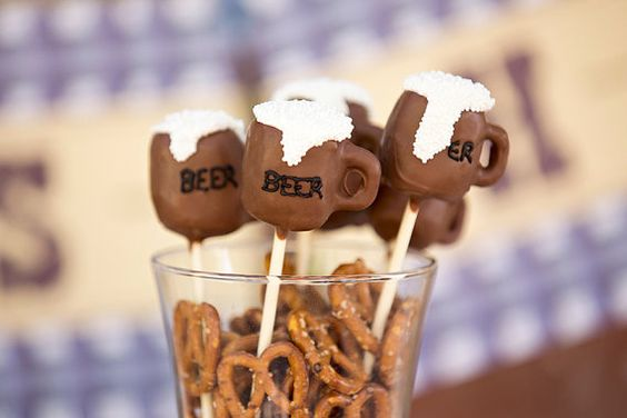 12 Beer Mug Football Party Cake Pops Superbowl Super Bowl Party Favors Treats Fathers Day