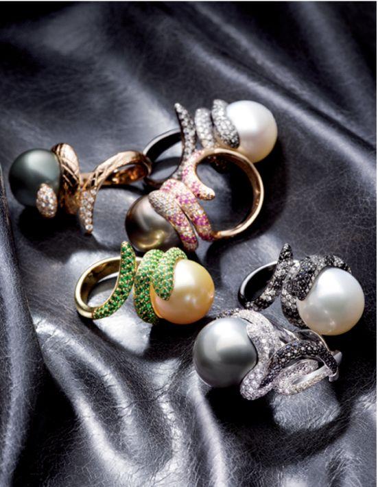 UTOPIA pearl, diamond and gemstone rings