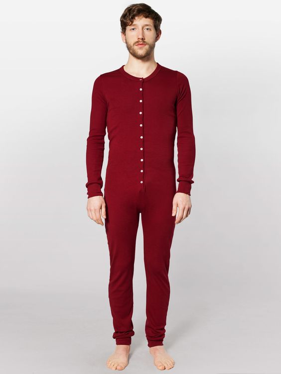 Red Union Suit Thermals (). Also known as union suit with seat flap, original long johns, one piece thermals, classic warm underwear. Can be worn as thermals, loungewear and are great for pajamas.