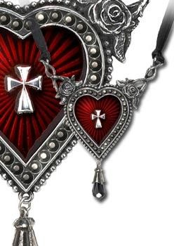 Image of My Bloody Valentine - Swarvoski Adorned Pendant Necklace