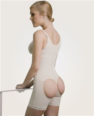 Powernet Butt Lift Girdle- Three layers for triple reduction effect. Shaping and reducing garments manufactured in specialized fabrics such as powernet and cotton. The powernet and Cotton. The powernet due to its net weaving allows the body to breath and offers high resistance and durability. The antural cotton interior lining offers freshness and comfort. Adjusts anotomically to the body. Manufactured with flat seams to avoid marks on the skin. $94