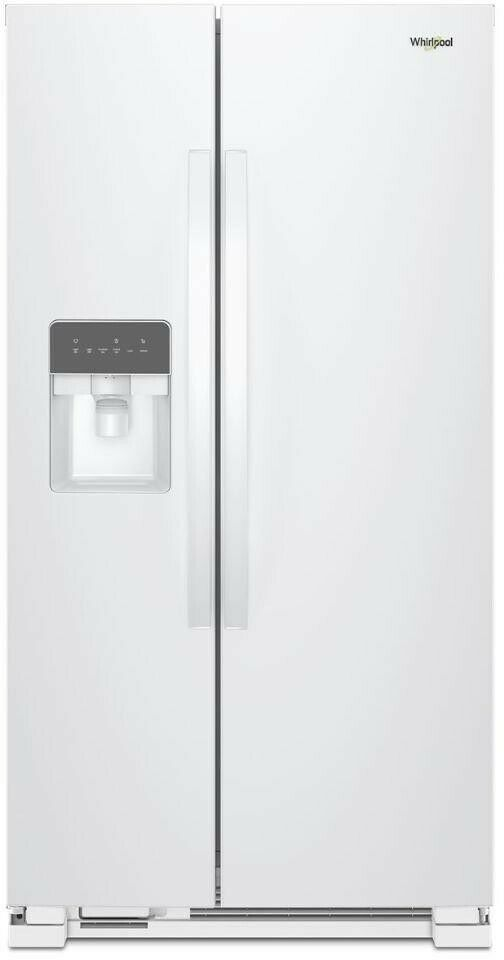 Whirlpool Wrs315sdhw 36 Side By Side Refrigerator Led Interior Light White Whirlpool In 2020 Glass Shelves Side By Side Refrigerator Interior Lighting