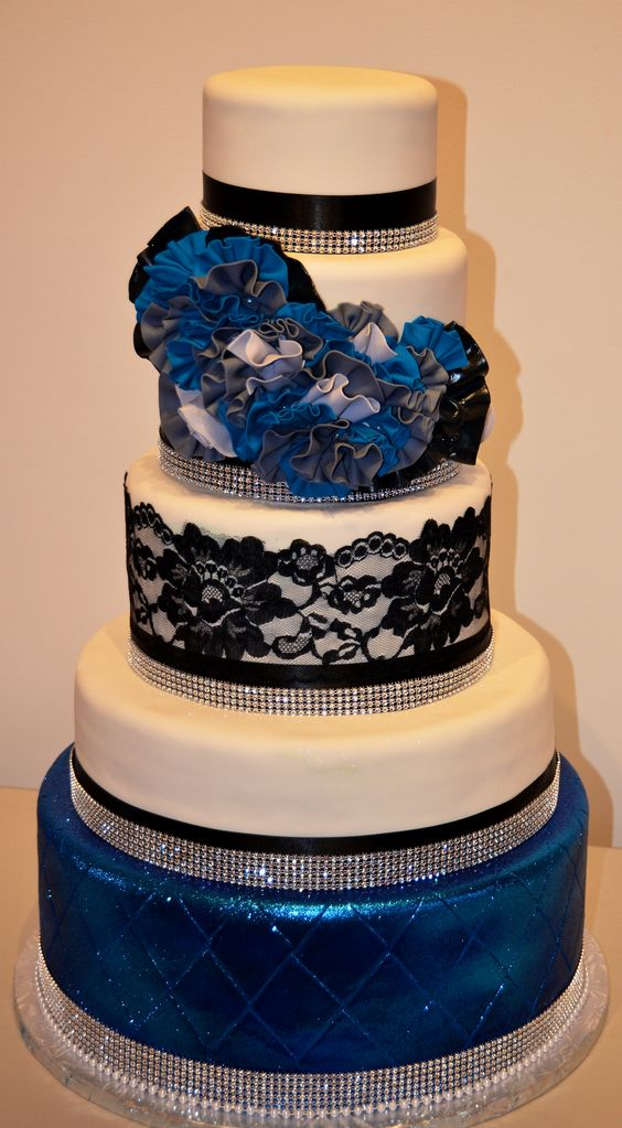 The royal blue frill cake/Fine cakes by Zehra