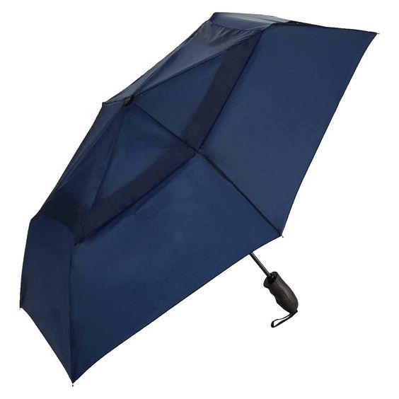 "Windjammer Auto Open/Close Vented Umbrella - Navy 43"""