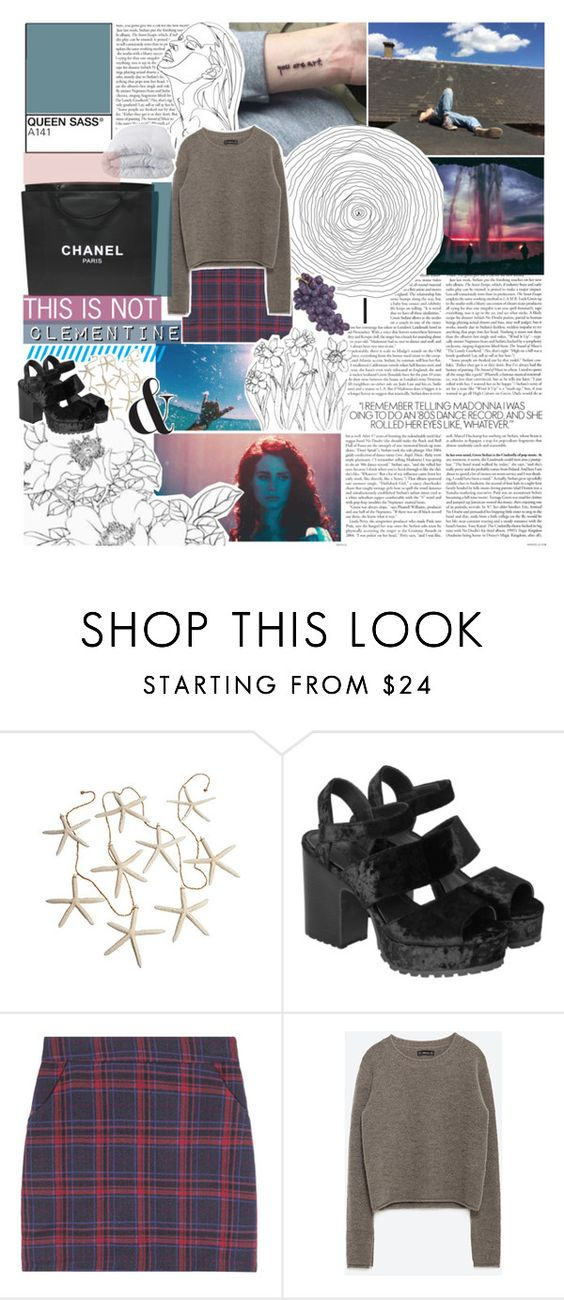"""eyh its naomi ;)"" by heart-is-beating-loud ❤ liked on Polyvore featuring Monki, Chanel, Zara, Soft-Tex, melsunicorns, gottatagrandomn3ss and MeenaGotTagged"