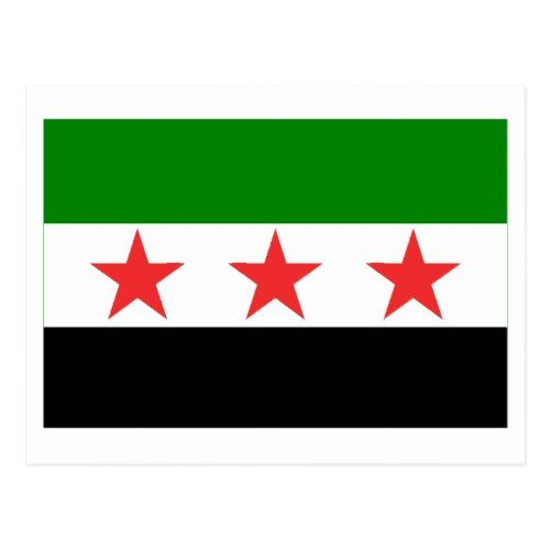 Syria Flag 1932 1958 And 1961 1963 Postcard Zazzle Com Syria Flag Syria Postcard