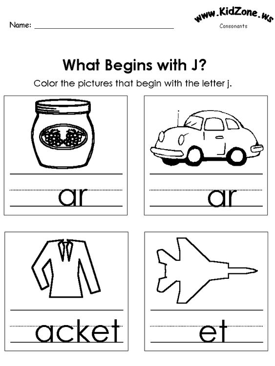 letter+j+worksheet+for+preschool | Go Back > Gallery For > Things ...