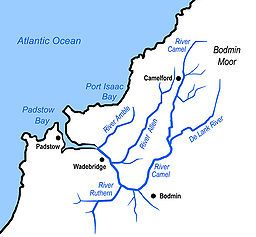 River Camel and tributaries. Cornwall