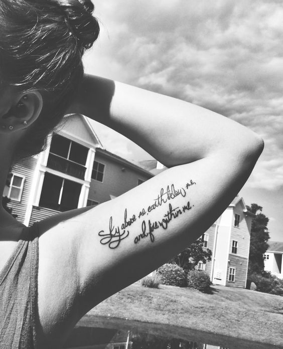 """Sky above me, earth below me, and fire within me"" • heritage tattoo co, wilmington nc •"