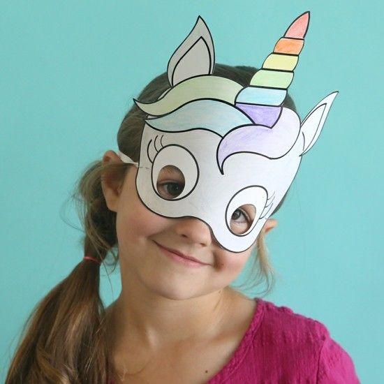 Maske Einhorn Zum Ausdrucken 15