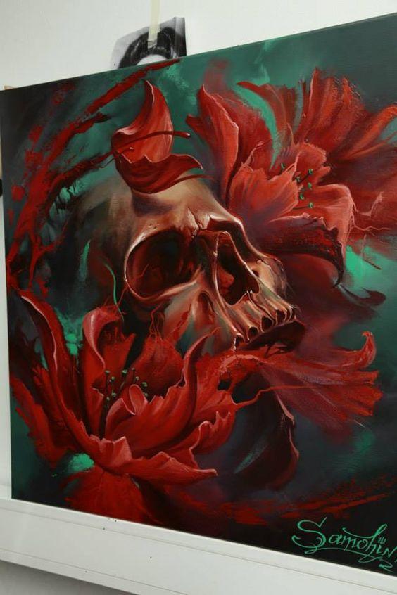 Skull paintings by Dmitriy Samohin (2)