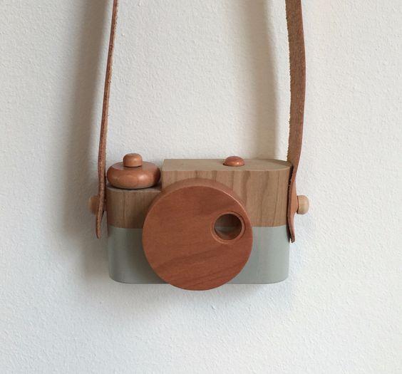 Twig Creative - Pixie wooden toy camera in bronze