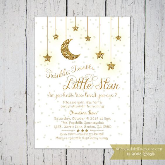 star baby showers twinkle twinkle little star and twinkle twinkle on