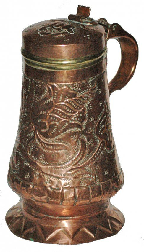 Copper 1 L Hand Hammered Stein : Lot 112