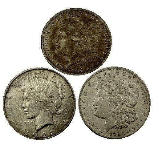 Cull Morgan or Peace dollars, random years 90% silver by SGBullion on Etsy