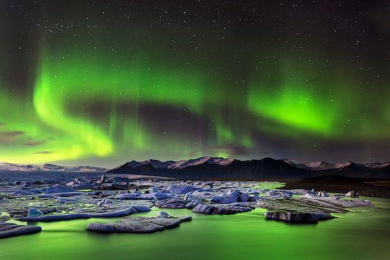Green Lagoon - photo taken in Auster-Skaftafellssysla, Iceland. (by Tony Prower on flickr)
