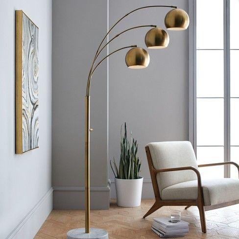 Span 3 Head Metal Globe Floor Lamp Project 62 Floor Lamps Living Room Globe Floor Lamp Lamps Living Room