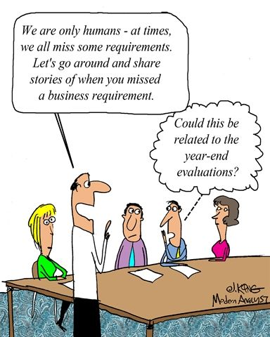 Humor - Cartoon Looking for a few good Green Business Analysts - requirement analysis